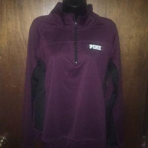 Victoria's secret PINK quarter zip pullover shirt